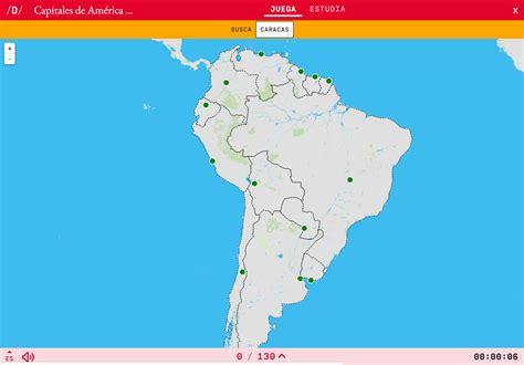 Mapa para jugar. ¿Dónde está? Capitales de América del Sur ...
