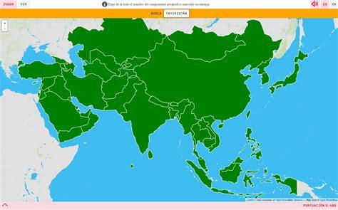 Mapa para jugar. ¿Dónde está? Países de Asia - Mapas ...