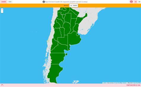 Mapa para jugar. ¿Dónde está? Provincias de Argentina ...