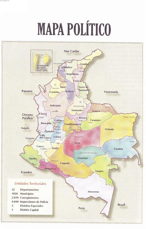 Mapa Político Colombia - Atlas geografico