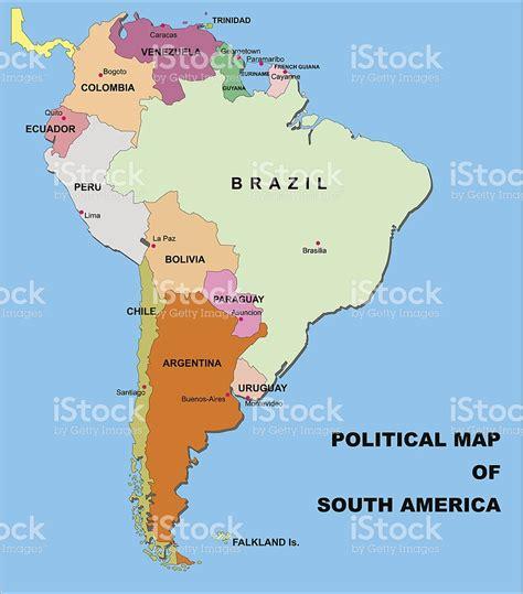Mapa Político Da América Do Sul Em Formato Vetorial - Arte ...