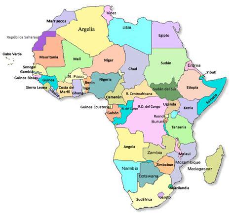 Mapa político de África | Los recursos naturales en África ...