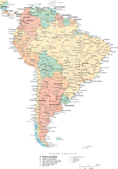 Mapa Político de América del Sur - América del Sur