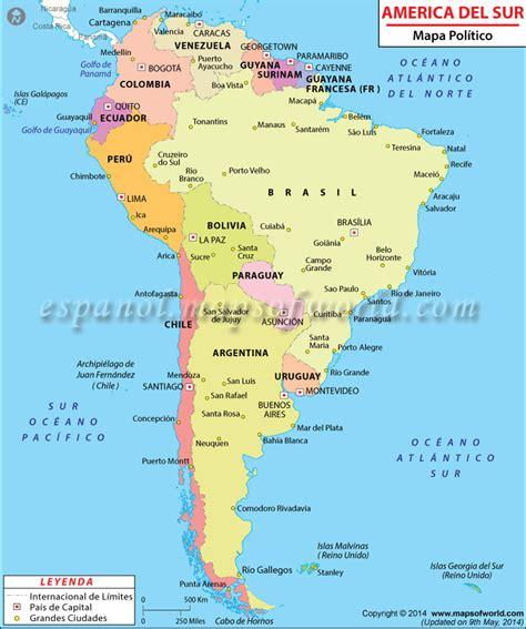 Mapa Politico de America del Sur | Mapa Politico America ...