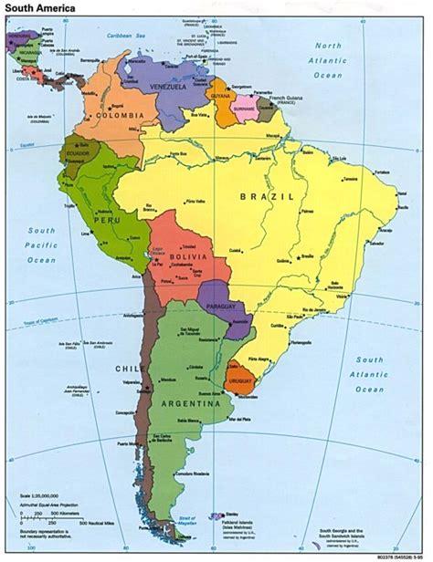 Mapa político de América | Países de América del Norte y ...