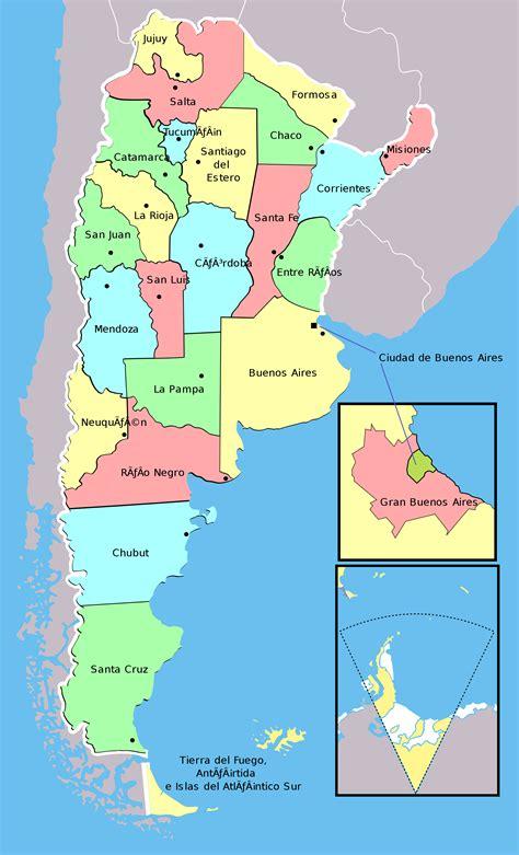 Mapa Politico De Argentina