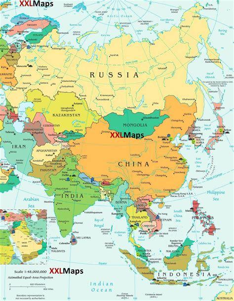 Mapa político de Asia - descarga gratuita para smartphones ...