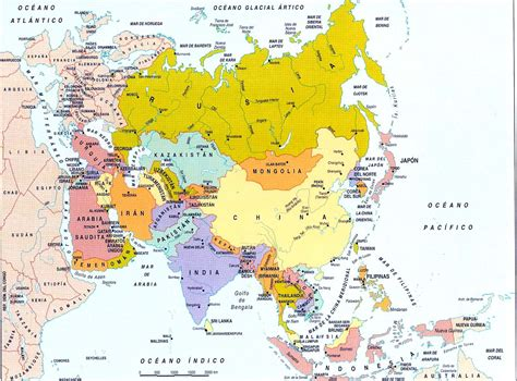 Mapa Politico de Asia Grande Division Política