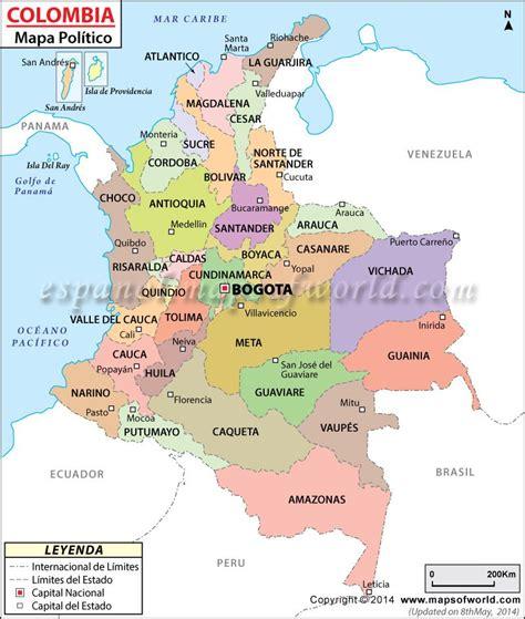 Mapa Politico de Colombia | Colombia: cartas geográficas ...