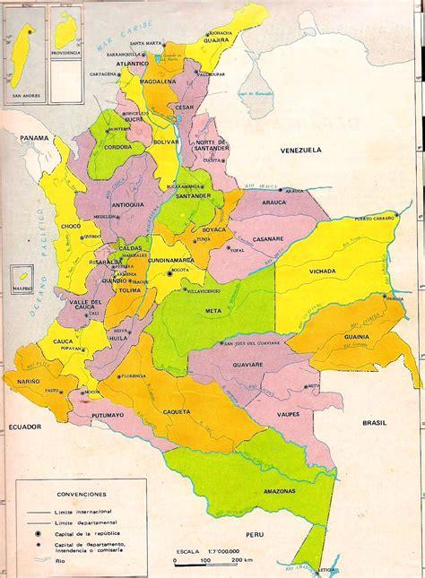 Mapa político de Colombia - Mapa de Colombia