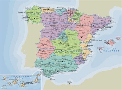 Mapa Político de España - Tamaño completo