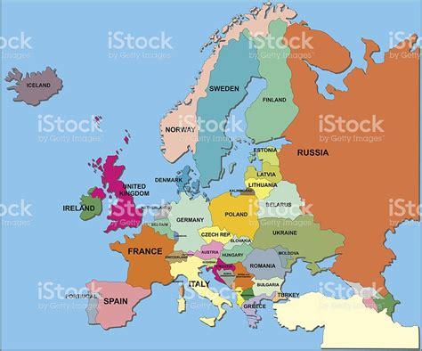 Mapa Político De Europa En Formato Vectorial - Arte ...