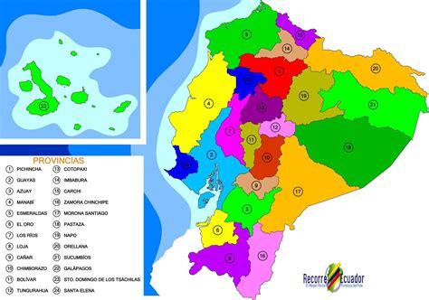 Mapa Político de las Provincias del Ecuador | Mapas ...