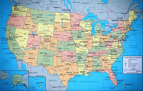 mapa político de los Estados Unidos de América (EEUU ...