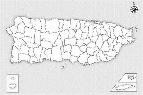 Mapa politico de los municipios de puerto rico
