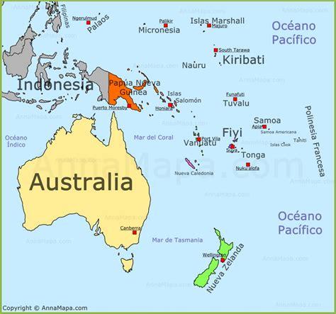 Mapa Politico De Oceania   threeblindants.com