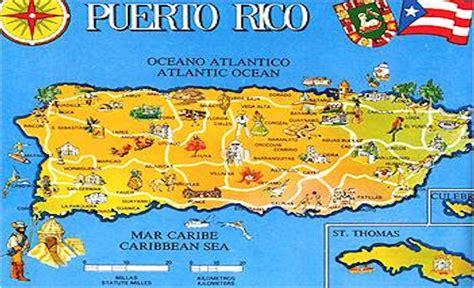 Mapa politico de puerto rico con sus pueblos