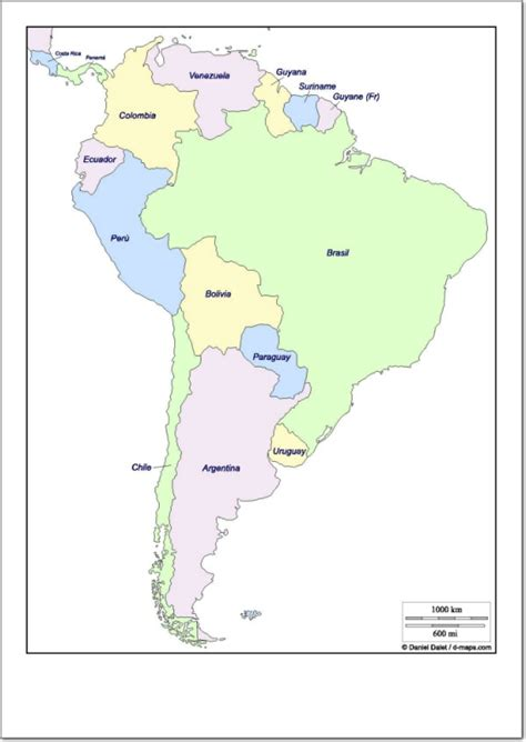 Mapa político de Sudamérica Mapa de países de Sudamérica ...