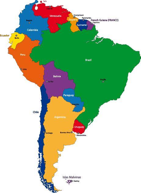 Mapa político de sudamérica - Vector | Vector Clipart