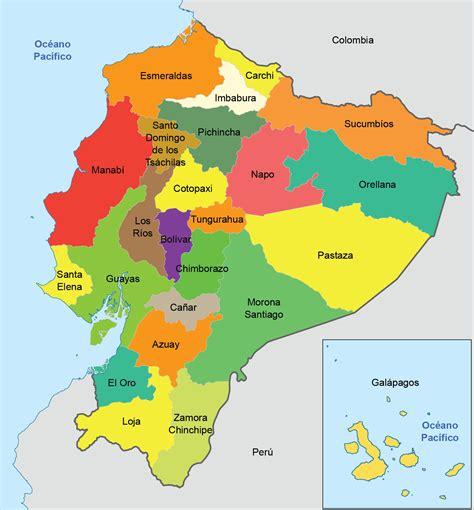 Mapa político del Ecuador actualizado - Ecuador 10