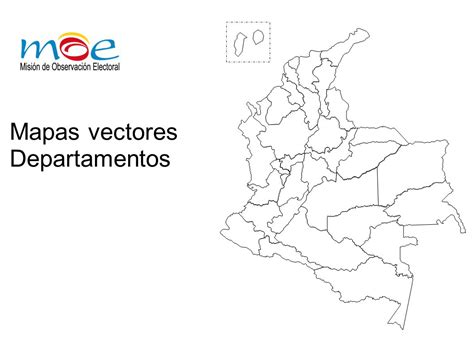 Mapa político en vectores de Colombia - Departamentos Y ...