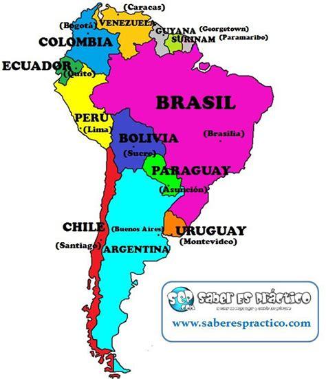 Mapa Politico Sudamerica | threeblindants.com
