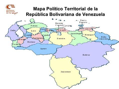 Mapa Político Territorial de la República Bolivariana de ...