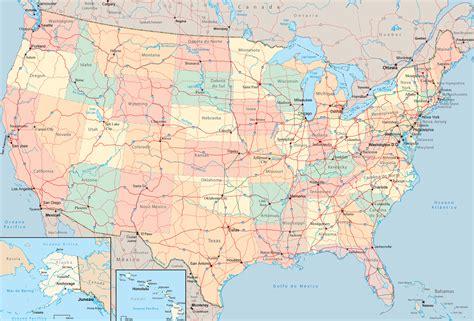Mapa politico y fisico de Estados Unidos | Universo Guia