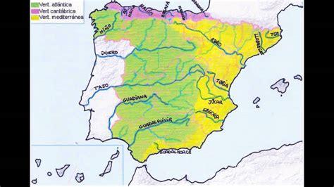 Mapa Rios España Y Afluentes