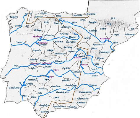 Mapa Rios Norte España