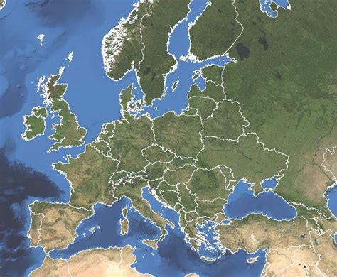 Mapa satelital de Europa - Mapa de Europa