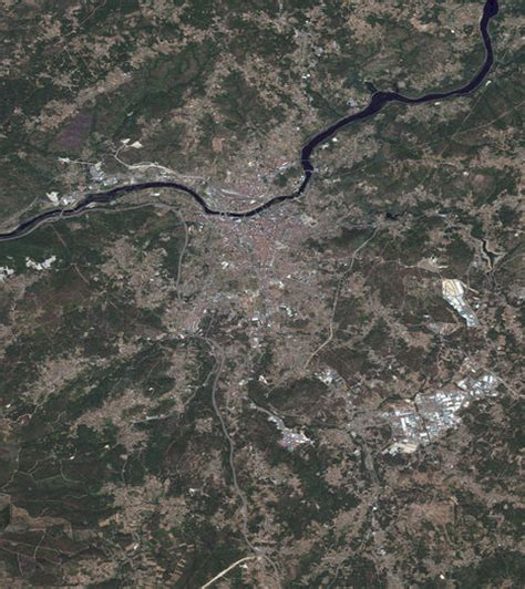 Mapa satelital de Orense - Orense