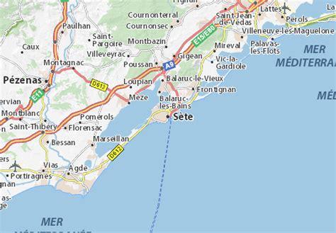 Mapa Sète - plano Sète - ViaMichelin