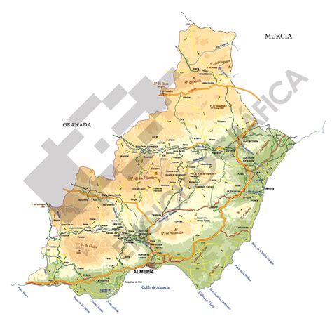 Mapa vectorial de Almería