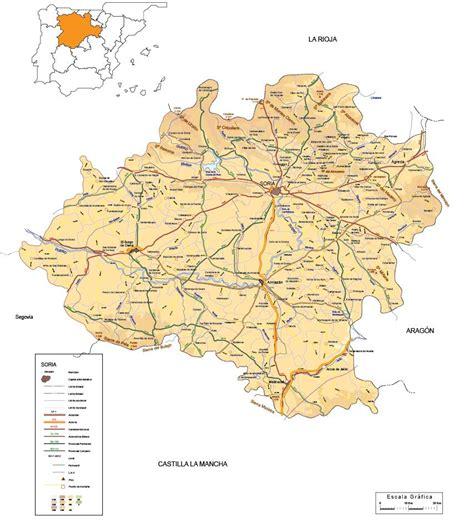Mapa vectorial editable de Soria