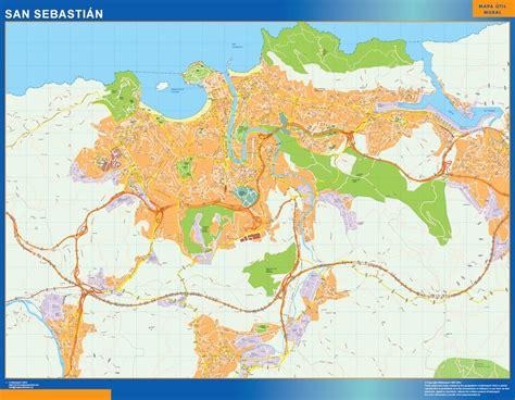 mapa vectorial san sebastian. Eps Illustrator Map | A ...