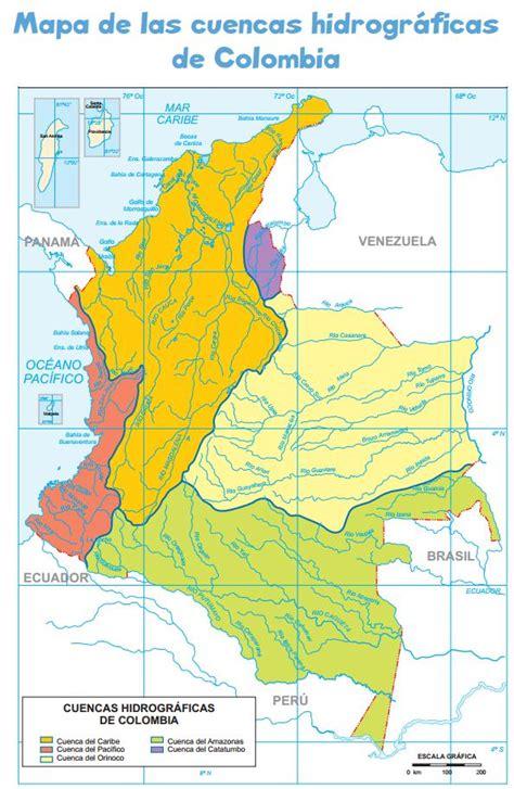 Mapa Vertientes Hidrograficas De Colombia