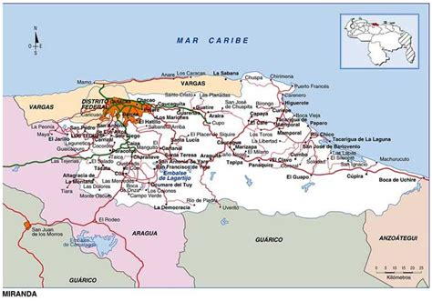 Mapa Vial de Miranda