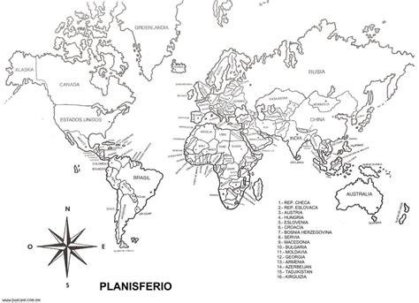 Mapamundi blanco y negro   Imagui … | Mapas | Pinterest ...