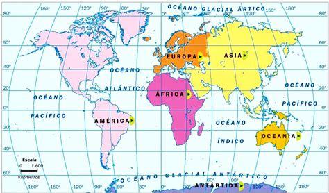 Mapamundi con sus continentes   MapaMundi