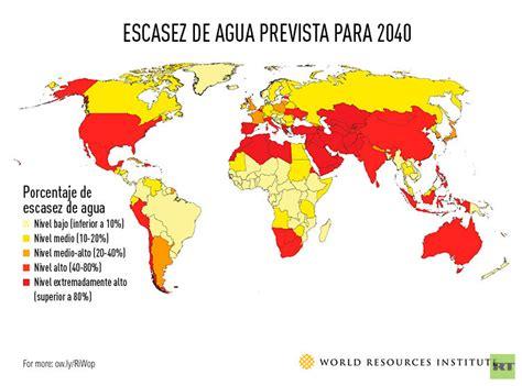 Mapamundi de la sequía: ¿Qué países se quedarán antes sin ...