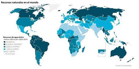 Mapamundi de los países con mayores recursos naturales   RT