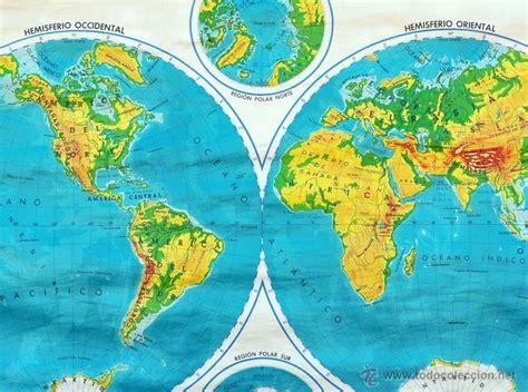 mapamundi fisico. de escuela. años 40 50   Comprar Mapas ...