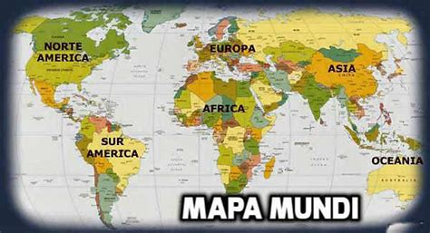 Mapamundi | Mapa del Mundo |Para Viajar