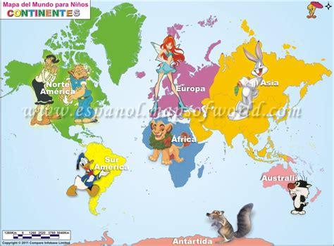 Mapamundi Para Niños , Mapa del Mundo Para Niños