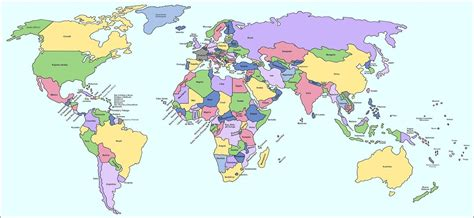 Mapamundi político | Maps | Pinterest | Mapamundi politico ...