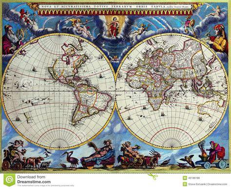 Mapas Antigos Do Mundo Foto de Stock   Imagem: 46186188