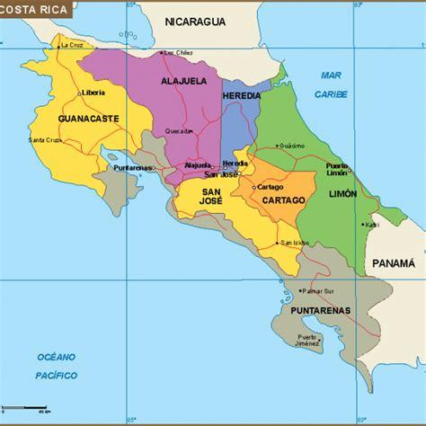 mapas Costa Rica | Vector & Wall Maps made in Barcelona ...