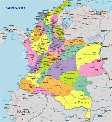 MAPAS DA COLÔMBIA - Geografia Total™
