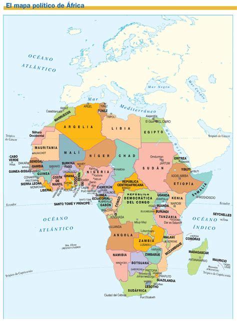 MAPAS DE ÁFRICA: FÍSICOS, POLÍTICOS Y MUDOS | JUGANDO Y ...